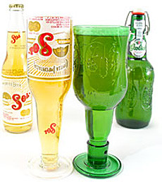 beer-bottle-goblets by you.