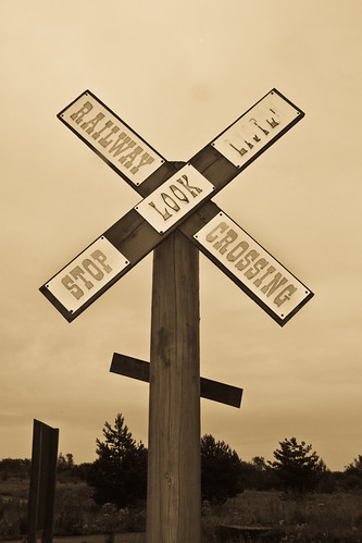 American Adventure: Railway Sign