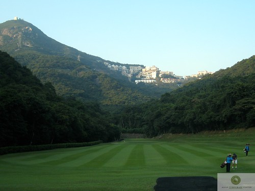 mowing pattern of carpetgrass fairway at hong kong