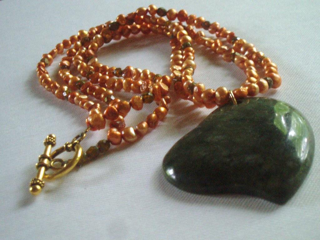 Autumn's Heart Necklace