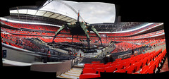 iPhone panorama - Wembley U2 360 Tour - Friday 15th 2009 (Stew Dean) Tags: panorama london u2 stadium stage 360 stitched wembley iphone