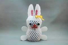 Coelho em origami 3D