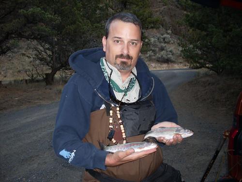 Happy fish man