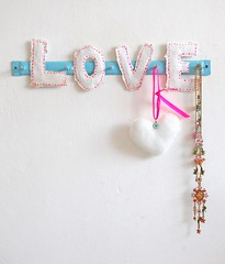 love (ATLITW) Tags: pink white love beautiful wall happy heart jane handmade hart eclectic homedecor papermache sfgirlbybay alltheluckintheworld