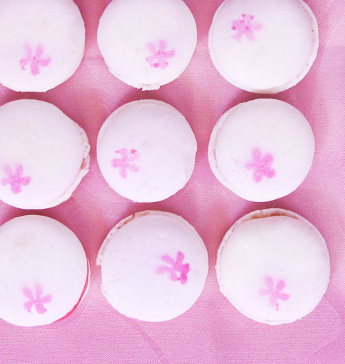 Cherry Macarons (top)