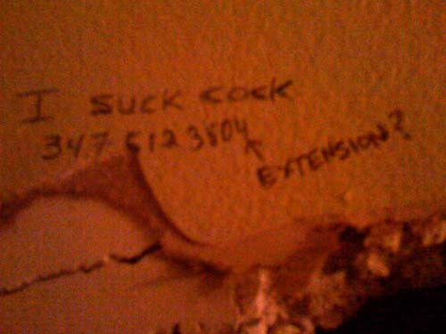Bathroom graffiti post-Ruby