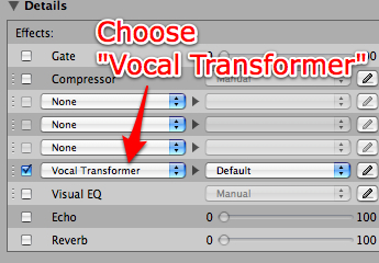 Vocal Transformer effect