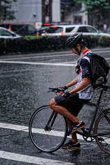 Wet-through biker; Route 246, Shibuya, Tokyo (Alfie | Japanorama) Tags: street storm rain bike bicycle japan photography tokyo nikon cyclist shibuya cycle raindrops rainstorm biker raining downpour soaking drenched d300 peopleintherain torrential caughtintherain photosfromtokyo bicyclecourier peopleintokyo nikkor85mmf14afd streetphotographyintokyo streetphotographyinjapan