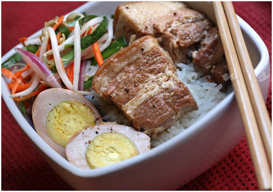 Thit Kho Caramelized Braised Pork and Eggs