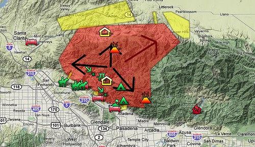 Los Angeles County-area fires near Mount Wilson, La Canada Flintridge, Altadena, La Crescenta, Glendale, Pasadena, Acton, Agua Dulce - Google Maps