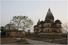 last rays, orchha (nevil zaveri) Tags: trees india tree heritage architecture photography blog photographer photos dusk stock images mausoleum photographs photograph mp monuments zaveri tombs stockimages pradesh travelogue nevil madhyapradesh orchha madhya cenotaphs bundela nevilzaveri