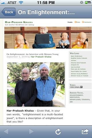 Shinzen and HPK on Enlightenment