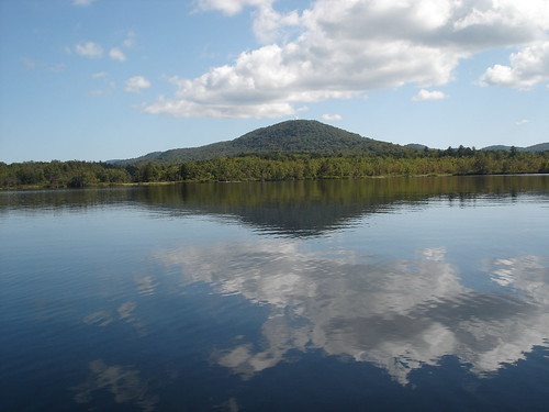 Kane Mt., from the Dowlgeville Point, Canda Lake, Adirondacks, New York.