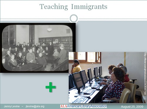 libraries teaching immigrants