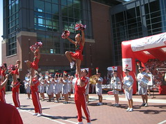 2009 OSU vs. USC  Pep Rally at Nationwide Arena (Nationwide Insurance) Tags: cheerleaders osu brutus usc theohiostateuniversity nationwide theframe nationwideinsurance