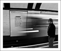 Manned Tube [Tube Motion 2/3] (Photolab.AJ) Tags: city bw white man motion black blur london station wall speed train underground wagon lights moving focus metro south centre tube platform trains center headlights piccadillycircus jeans rush londres ubahn rails africanamerican trousers colored arrival bakerstreet bound zwart wit centrum entering trein halte edgwareroad londen muur lampen beweging southbound sporen timing gleis tegels halt snelheid onscherp bakerlooline koplampen lichten rijtuig aankomst oxfort rushingin canong9 photolabaj binnenrijden imga6910fljpg tubemotion
