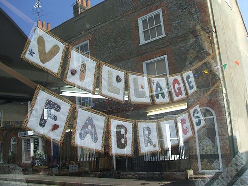 Village Fabrics shop sign