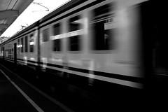 I'm Taking The Train Home (redbanshee) Tags: blackandwhite bw italy station train photography photo moving italia foto image liguria picture railway pic dani bn movimento fotografia stazione treno biancoenero ferrovia immagine spezia troiani bej vezzanoligure redbanshee redbanhsee danitroiani