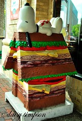 Hamburger house Snoopy