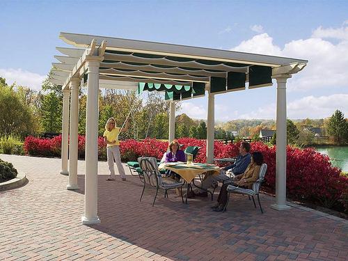 pergola patio awning