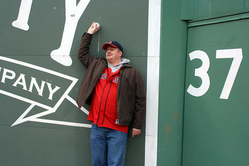Iain 'fields' in front of the Green Monster by you.