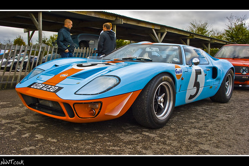 Ford Gt  Gulf Livery No  Low Close Front Quarter Shot