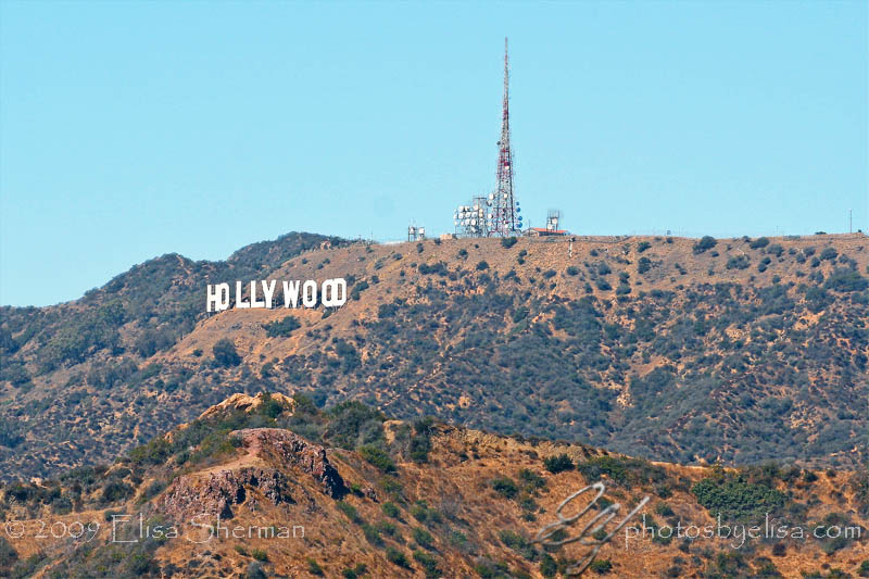 Hollywood sign from Griffith Park Observatory by Elisa Sherman | photosbyelisa.com