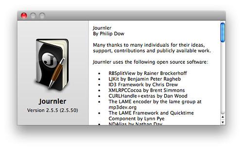 Journler 2.5.5