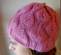 Ashlyn's Tretta Hat (AmbjerKnits) Tags: pink hat beads purple knit ashlyn tretta