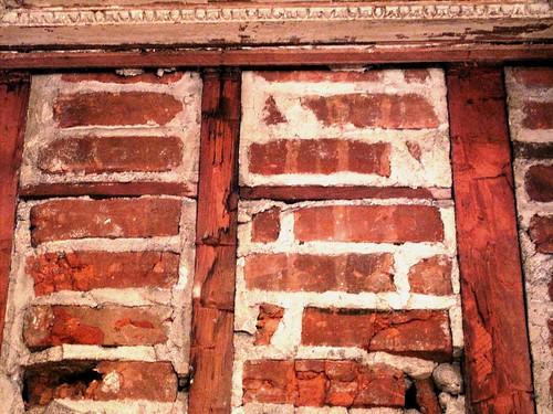 Brick noggin - 1838 Peter Augustus Jay House