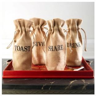 Acts of Kindness Wine Jute Bags at Wisteria.com