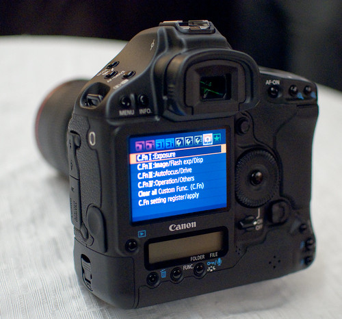 Canon 1D Mark IV -- Rear view with Menu displayed
