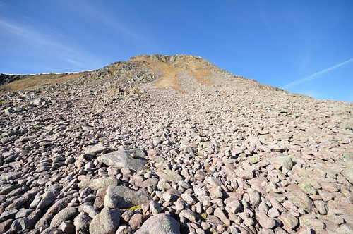 Route up from Garbh Choire