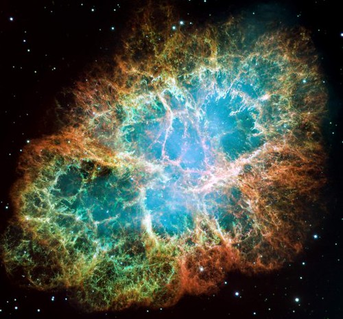 "Crab Nebula (NASA, Sailing With NASA, 10/24/09) The Crab Nebula, the result of a supernova seen in 1054 AD.   This is a supporting image for the ""Sailing With NASA"" blog, which is documenting space shuttle external tank ET-134s sea voyage from Michoud Assembly Facility in New Orleans to the Kennedy Space Center in Florida.  Credit: NASA, ESA, J. Hester, A. Loll (ASU)  Read the original blog post, ""Exploration May Be a Matter of Timing"" --  <a href=""http://blogs.nasa.gov/cm/blog/sailing_with_nasa/posts/post_1256273839294.html"" rel=""nofollow"">blogs.nasa.gov/cm/blog/sailing_with_nasa/posts/post_12562...</a>  Follow the ""Sailing With NASA"" blog and the ET-134 journey: <a href=""http://blogs.nasa.gov/cm/blog/sailing_with_nasa"" rel=""nofollow"">blogs.nasa.gov/cm/blog/sailing_with_nasa</a>"