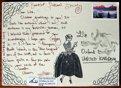 Benevolent Postcard Society: Sent October