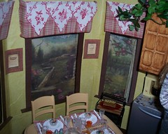 French Country Breakfast Room Barbie Size (SS-Designs Doll Interiors) Tags: kitchen barbie diorama dollhouse 16scale myfirstkenmore rementtable ssdesignsdollinteriors customplayscalefurniture