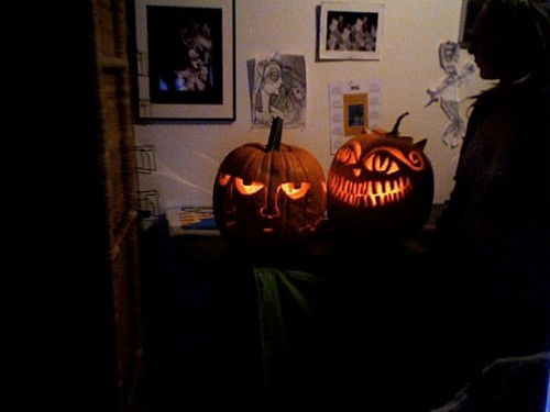 Carved pumpkins for 09