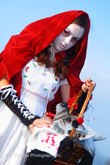 Dead Riding Hood (Lee Collings Photography) Tags: red people girl wolf gothic goth redridinghood goths beheaded slaughtered wgw whitbygoth whitbygothweekend deadridinghood