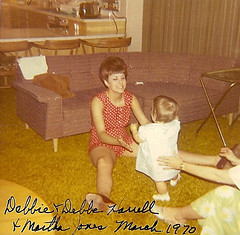 Mom & DB (funny strange or funny ha ha) Tags: oklahoma march jones farm 1970 debbie ok hooker debbe harrell 73945