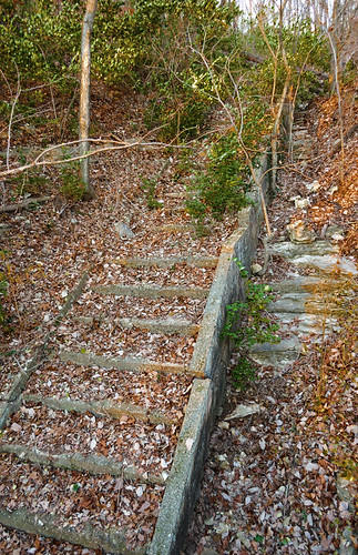 Castlewood State Park, in Saint Louis County, Missouri, USA - abandoned stairway