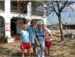 a Pass Christian family contemplates post-Katrina restoration (courtesy of Mississippi Renewal)