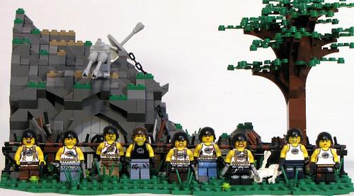 how to make a lego zombie hunter