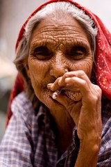 Up in smoke...! (niyatee) Tags: india rural women village haryana