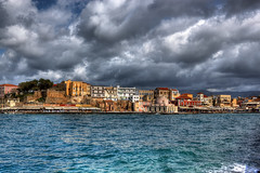 Chania (Theophilos) Tags: sea sky clouds greece crete oldtown chania