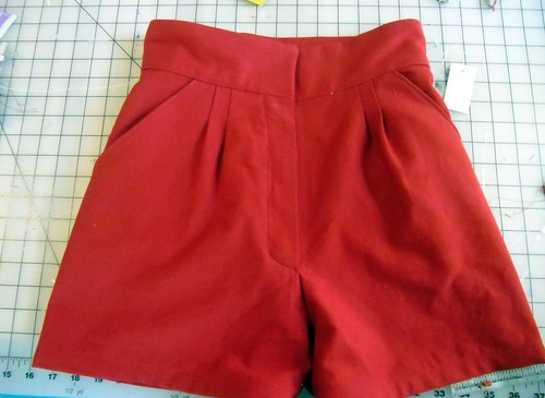 Simplicity 60 Red Highwaisted Shorts WeSewRetro Delectable High Waisted Shorts Pattern
