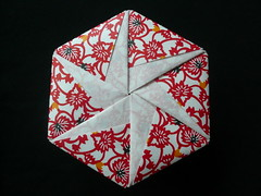 Hexagonal Origami Box (Handmade by Deb) Tags: red paper japanese origami box handmade hexagonal craft giveaway tomokofuse origamiboxes