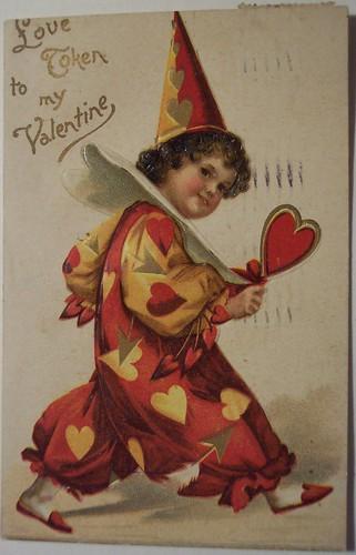 Дети в старых открытках-валентинках.