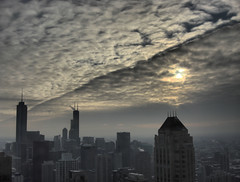 Chicago - a line in the sky (doug.siefken) Tags: park city sky urban cloud chicago tower art home nature weather skyline architecture clouds buildings geotagged town illinois cityscape loop sears doug president cities r change hyatt parkhyatt douglas trump obama chicagoskyline magmile chicagoist chicagoan obamas siefken dougsiefken douglasrsiefken justchicagoart