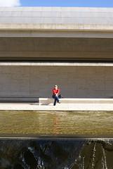 DSC06773 (hellothomas) Tags: red water concrete texas nb travertine fortworth louiskahn kimbellartmuseum
