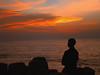 Solitude /me (www.senyphotography.com) Tags: sunset sea sky india beach me clouds self solitude alone wind sony kerala cochin ernakulam cherai h9 seny munambam pulimuttu